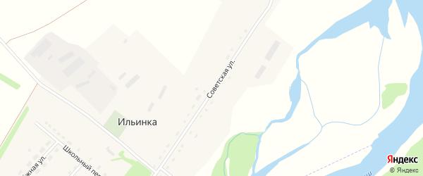 Советская улица на карте села Ильинки с номерами домов