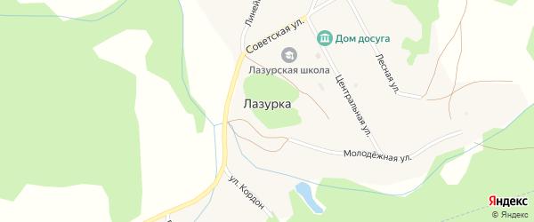 Перильная улица на карте села Лазурки с номерами домов