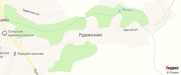 Лесная улица на карте поселка Рудовозово с номерами домов