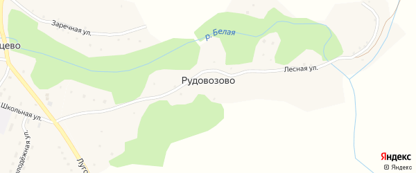 Заречная улица на карте поселка Рудовозово с номерами домов