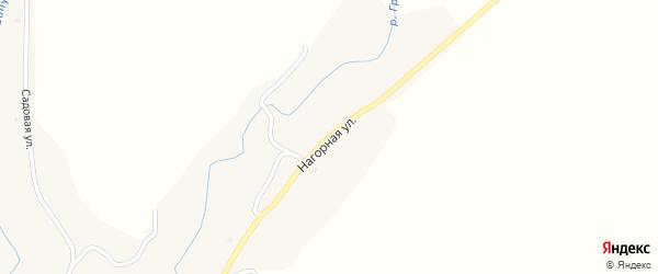 Нагорная улица на карте села Шипунихи с номерами домов