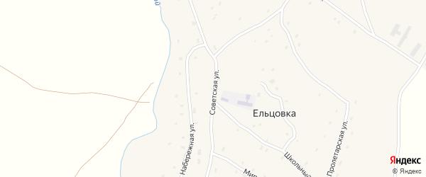 Советская улица на карте села Ельцовки с номерами домов