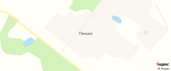 Степная улица на карте поселка Пеньки с номерами домов