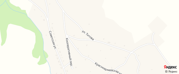 Улица Титова на карте села Ельцовки с номерами домов
