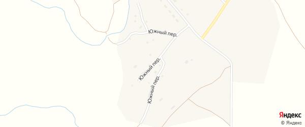 Южный переулок на карте села Ельцовки с номерами домов