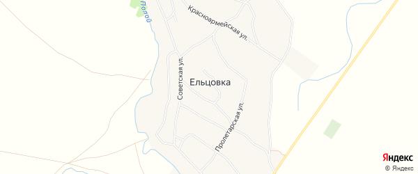 Карта села Ельцовки в Алтайском крае с улицами и номерами домов