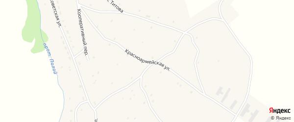 Красноармейская улица на карте села Ельцовки с номерами домов
