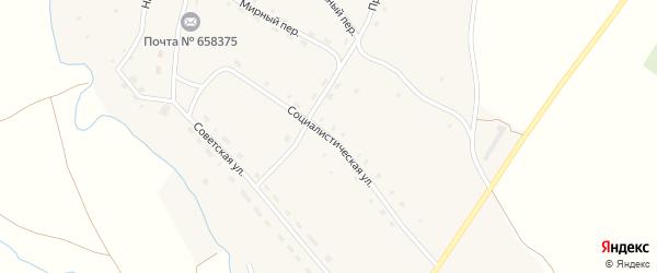 Социалистическая улица на карте села Ельцовки с номерами домов