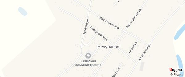Улица 1-е Черемушки на карте села Нечунаево с номерами домов