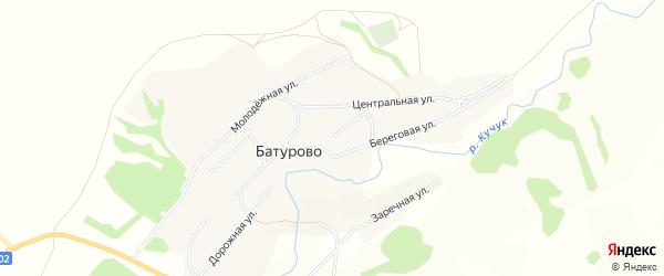 Карта села Батурово в Алтайском крае с улицами и номерами домов
