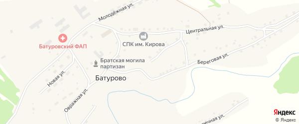 Центральная улица на карте села Батурово с номерами домов