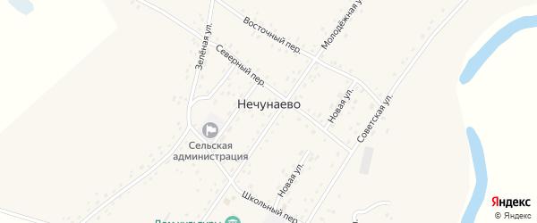 Приозерная улица на карте села Нечунаево с номерами домов