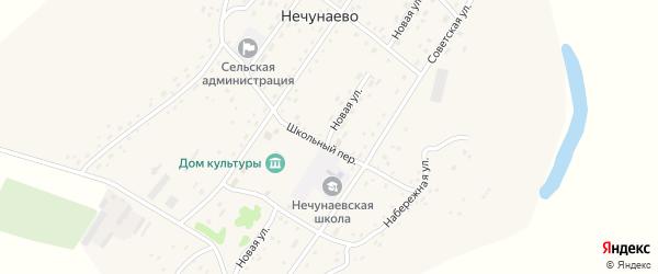 Новая улица на карте села Нечунаево с номерами домов