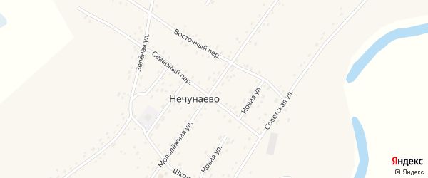 Молодежная улица на карте села Нечунаево с номерами домов