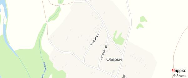 Новая улица на карте поселка Озерки с номерами домов