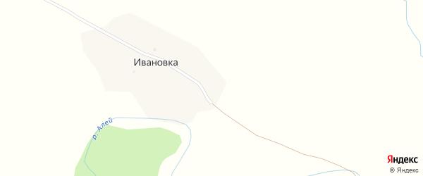 Центральная улица на карте поселка Ивановки с номерами домов