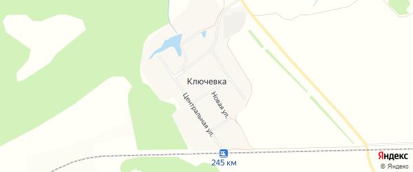 Карта поселка Ключевки в Алтайском крае с улицами и номерами домов