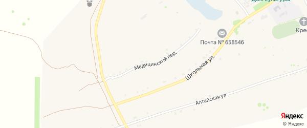 Медицинский переулок на карте села Боровлянки с номерами домов