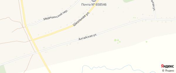 Алтайская улица на карте села Боровлянки с номерами домов