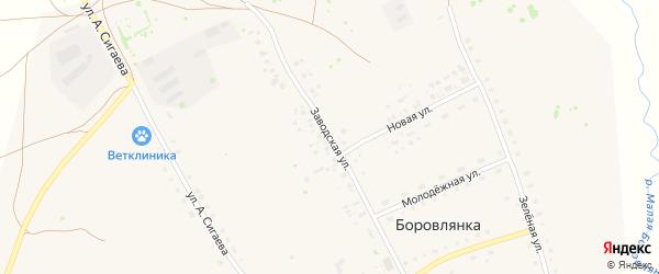 Заводская улица на карте села Боровлянки с номерами домов