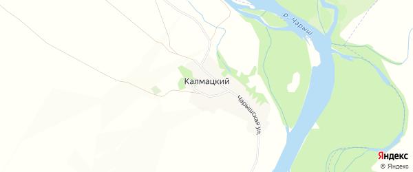 Карта Калмацкого поселка в Алтайском крае с улицами и номерами домов