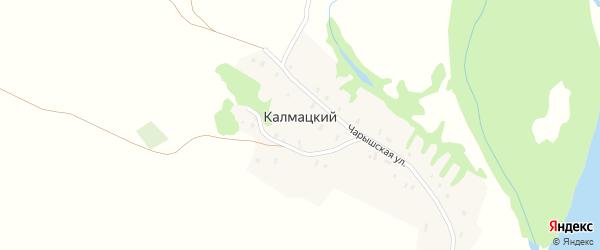 Чарышская улица на карте Калмацкого поселка с номерами домов