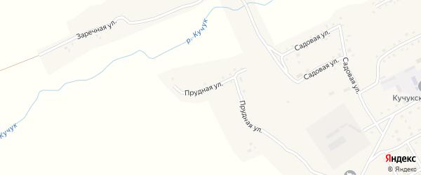 Прудная улица на карте села Кучука с номерами домов