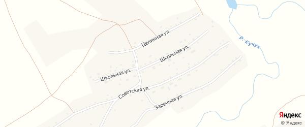 Школьная улица на карте села Кучука с номерами домов