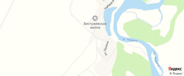 Карта села Бестужево в Алтайском крае с улицами и номерами домов