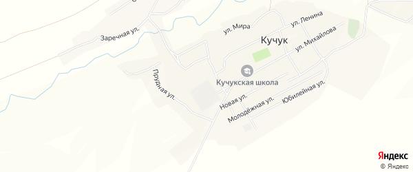 Карта села Кучука в Алтайском крае с улицами и номерами домов
