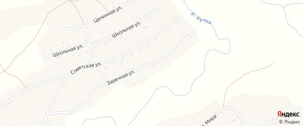 Заречная улица на карте села Кучука с номерами домов