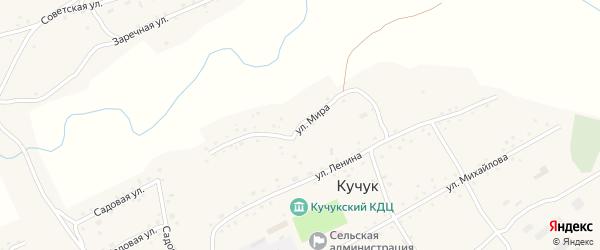 Улица Мира на карте села Кучука с номерами домов