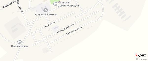 Юбилейная улица на карте села Кучука с номерами домов