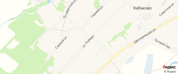 Правдинский переулок на карте села Кабаково с номерами домов