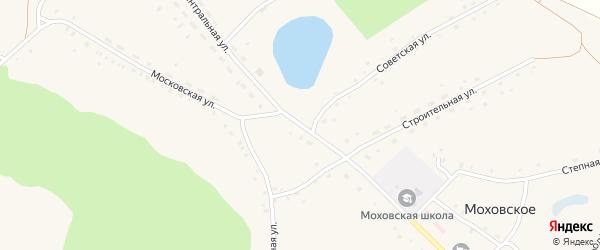 Центральная улица на карте Моховского села с номерами домов