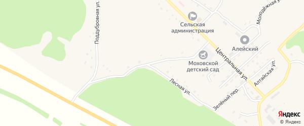 Поддубровная улица на карте Моховского села с номерами домов
