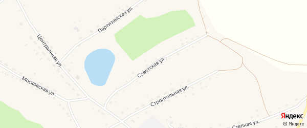 Советская улица на карте Моховского села с номерами домов