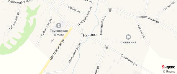 Центральная улица на карте села Трусово с номерами домов