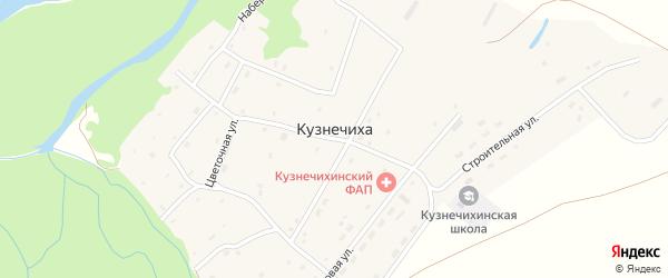 Набережная улица на карте села Кузнечихи с номерами домов