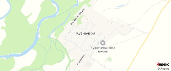 Карта села Кузнечихи в Алтайском крае с улицами и номерами домов