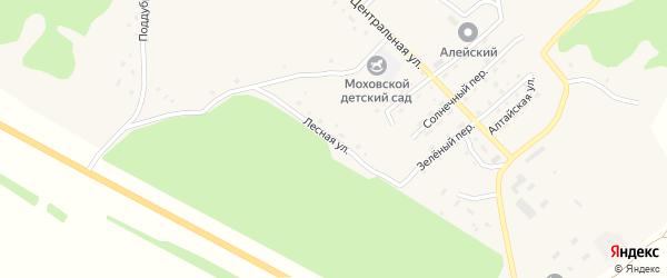 Лесная улица на карте Моховского села с номерами домов