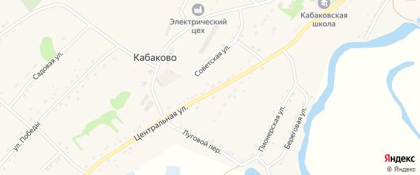 Заринский переулок на карте села Кабаково с номерами домов