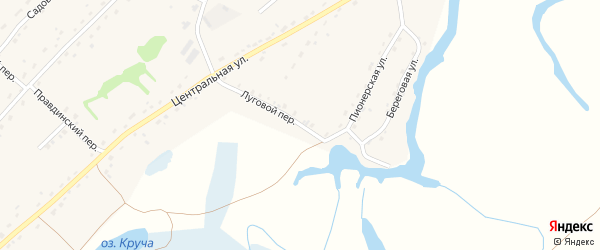 Луговой переулок на карте села Кабаково с номерами домов