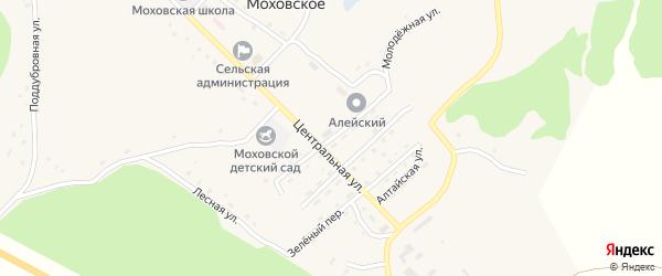 Почтовый переулок на карте Моховского села с номерами домов