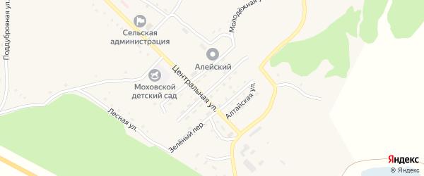 Солнечный переулок на карте Моховского села с номерами домов