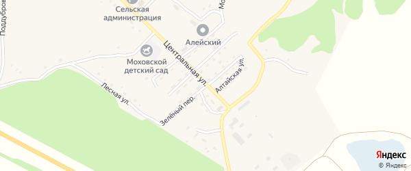 Зеленый переулок на карте Моховского села с номерами домов