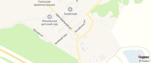 Алтайская улица на карте Моховского села с номерами домов