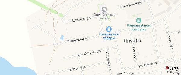 Целинная улица на карте Язевки-Сибирской станции с номерами домов