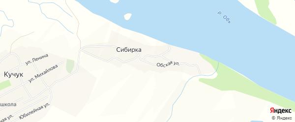 Карта села Сибирки в Алтайском крае с улицами и номерами домов
