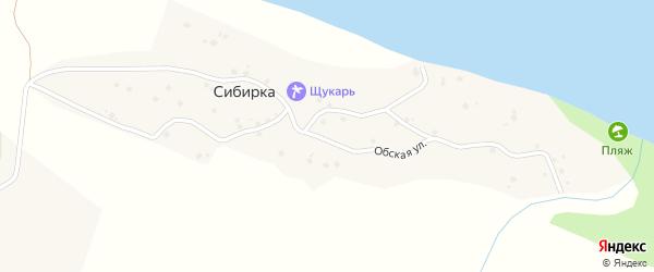 Обская улица на карте села Сибирки с номерами домов
